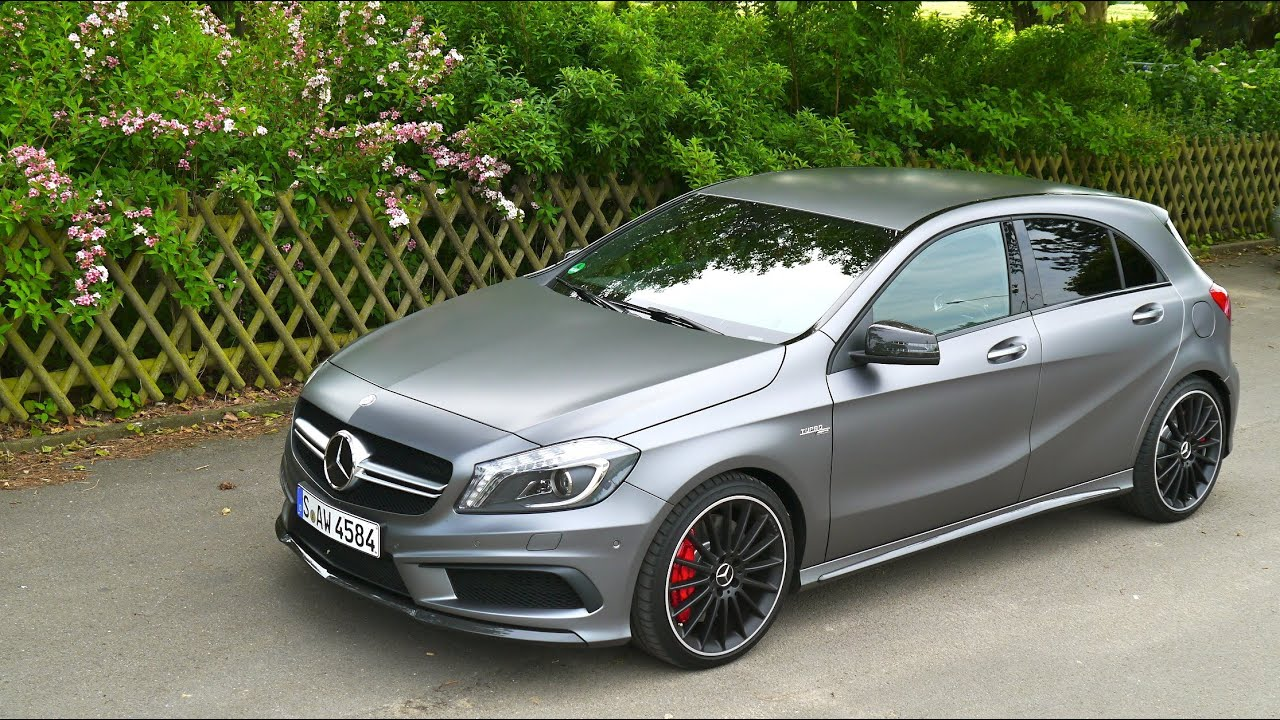 mercedes a 45 amg first drive youtube. Black Bedroom Furniture Sets. Home Design Ideas