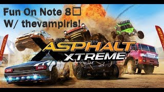 Asphalt Xtreme - Test Record on Samsung Note 8