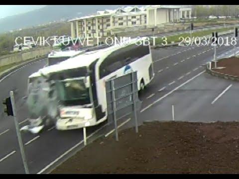 Haziran-2018 Türkiye Mobese trafik kazası görüntüleri.