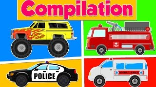 Learn Heavy Vehicles | Cars and Trucks Compilation | Videos for Kids & Toddlers
