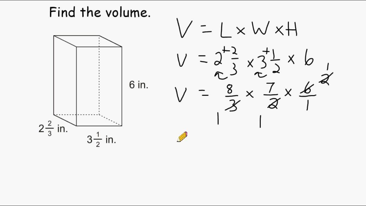 Volume Of Rectangular Prisms - Multiplying Mixed Numbers - YouTube