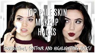 Makeup For Pale Fair Skin | TOP MAKEUP HACKS FOR PALE SKIN
