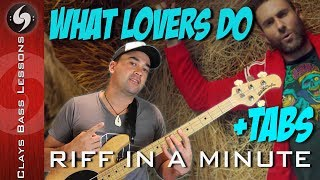 Download Lagu WHAT LOVERS DO - Bass Lesson with TABS - MAROON 5 ft SZA Gratis STAFABAND