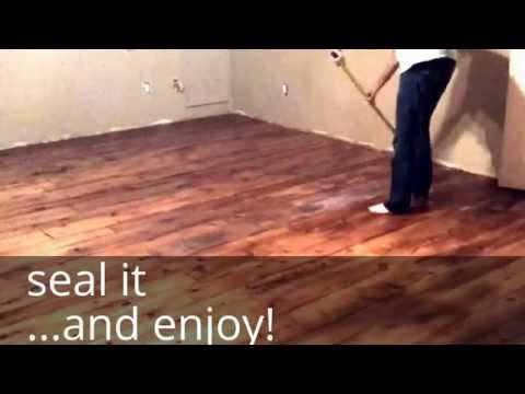 DIY Farm House Floor - Easy and Cheap Wood Floors with that Industrial, Chic, Country Feel
