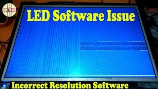 LED TV Software Issue.Universal Card Incorrect Panel Resolution Software Problem in Urdu/Hindi