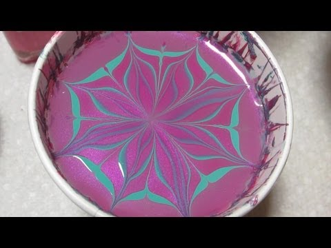April Showers Bring May Flowers ~ Dianthus Inspired  Water Marble by Colette (Manicure May #7)