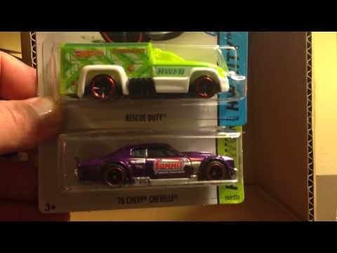 Hot Wheels 2014 G Case Unboxing! Featuring Super Treasure Hunt Summit Chevelle SS!
