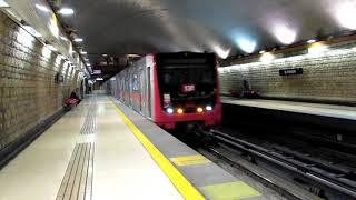 Metro De Santiago   Trenes NS-74 y NS-16 por El Parron