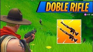 Doble Rifle De Caza Fortnite Battle Royale