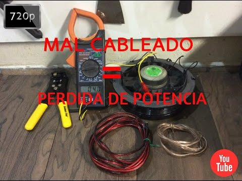 CABLEADO MALA CALIDAD = PERDIDA DE POTENCIA / CAR AUDIO - HD