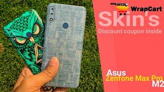 WrapCart Skins ft. Asus Zenfone Max Pro M2 | Pocket friendly | Discount Code Inside
