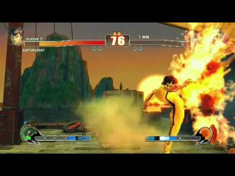 Street fighter 4 IV online matches with Bruce Lee costume mod