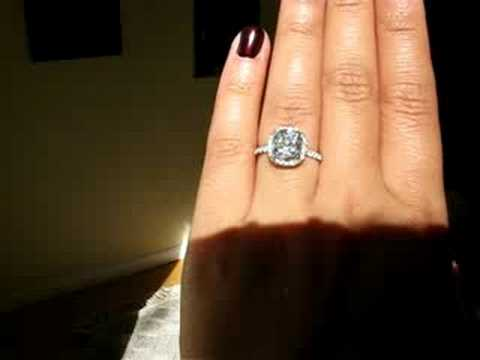 Micropave Ring Cushion Cut Harry Winston Price