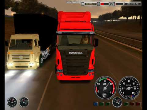 Scania R500 vs VW 18 310 - Racha - 18 WOS American Long Haul