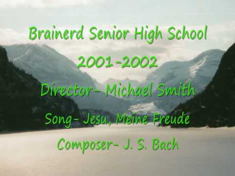 This is the Brainerd, Minnesota Senior High School A Capella Choir (2001-2002) singing Jesu, Meine Freude; composed by Johann Sebastian Bach.