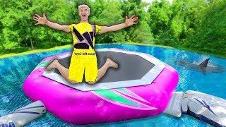 Unboxing Worlds Biggest Backyard Water Trampoline!! (Mystery Monster Spotted and Event Date Reveal)