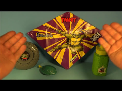 2005 TEENAGE MUTANT NINJA TURTLES ACTIVITY SET OF 4 SUBWAY KID'S MEAL TOY'S VIDEO REVIEW