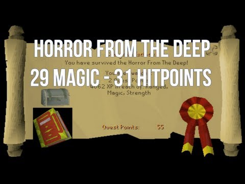 RuneScape 2007 Quest Guide: Horror From The Deep – 29 Magic, 31 Hitpoints