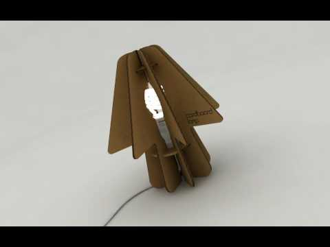 Cardboard Lamp - Lampara de Carton