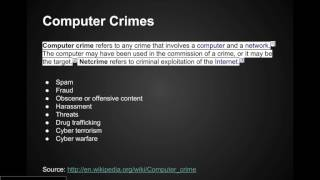 06  Computer Crimes (Ethical Hacking Complete Course)