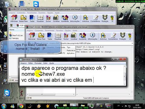 Tutorial, Windows 7 erro 7601