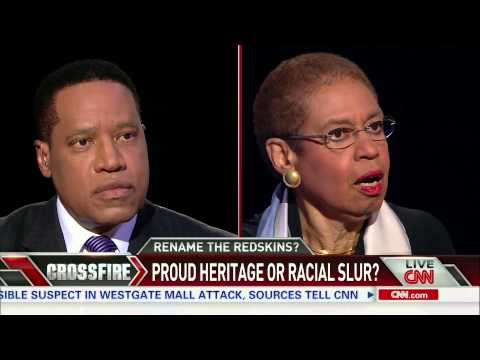Crossfire: Rep. Eleanor Holmes Norton and Larry Elder debate 'Redskins' (part 1/3)