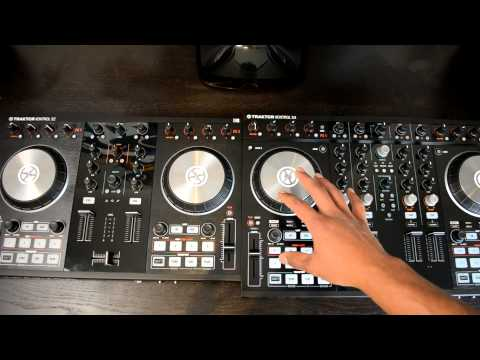 Native Instruments Traktor Kontrol S2 MK2 & Traktor Kontrol S4 MK2 Side-by-Side Comparison Video