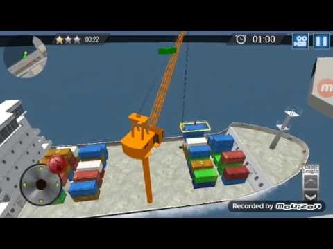 Cargo ship construction crane Android Gameplay