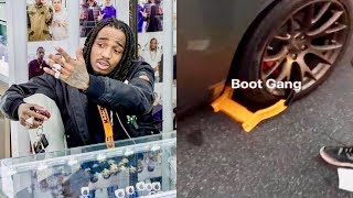 """Quavo """"Goes Off After His Car Gets Booted While Jewelry Shopping"""""""