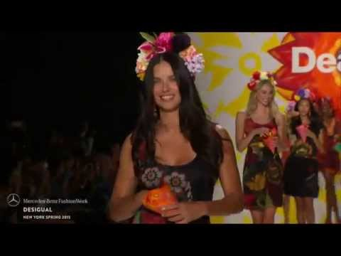 DESIGUAL FT ADRIANA LIMA: FINAL WALK AT MBFW S/S15 COLLECTIONS