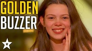 13 Y.O Singer gets Howie's GOLDEN BUZZER on America's Got Talent 2018 | Got Talent Global