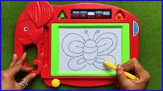 Đồ chơi trẻ em BẢNG TỪ THẦN KÌ VẼ TRANH & VIẾT CHỮ GIÚP BÉ HỌC TẬP   Toys for Kids (chị Chim Xinh)