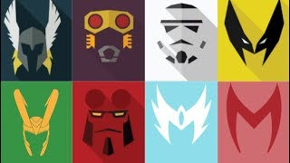 Guess All 35 Characters By Their Mask Challenge. Marvels And DC.