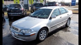 2002 Volvo S40 1.9T Walkaround, Start up, Tour and Overview