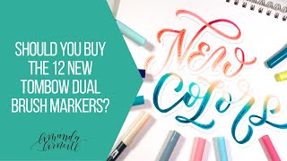 Should you buy the 12 new Tombow Dual Brush Markers: Tombow November VIP unboxing   Amanda Arneill