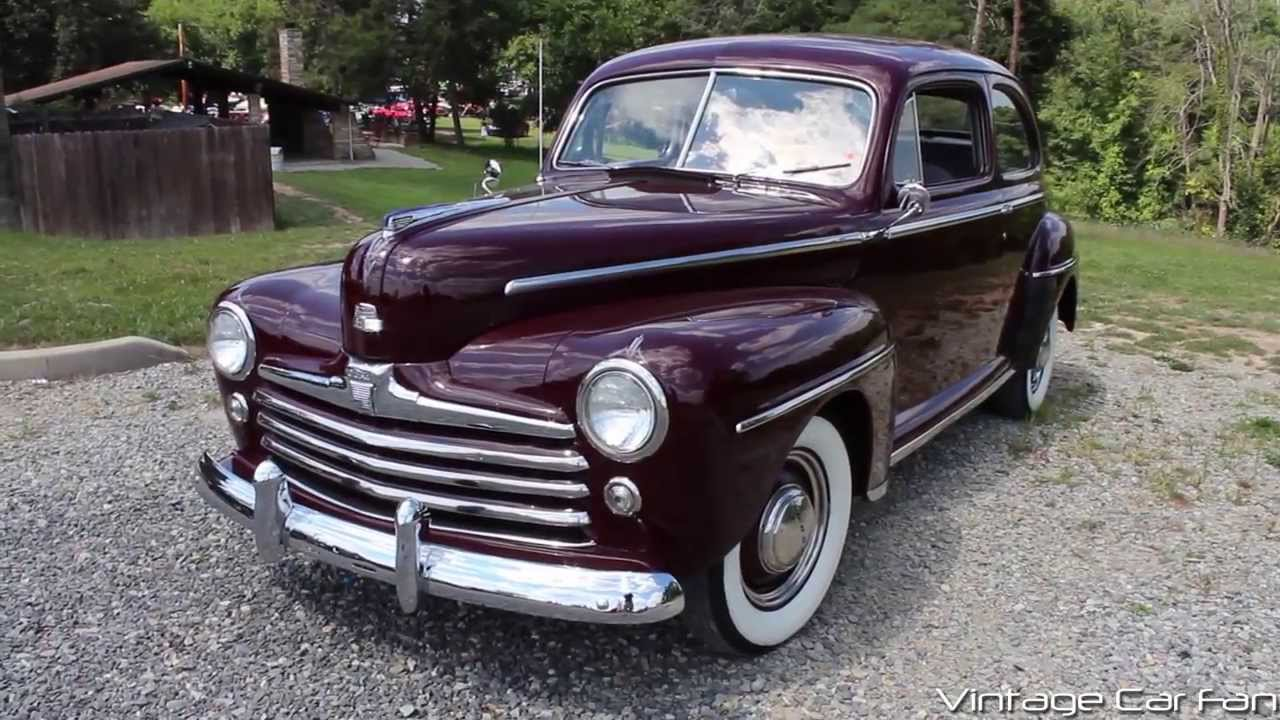 1948 Ford Super Deluxe V8 2 Door Sedan In Monsoon Maroon