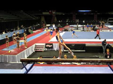 Kyla Ross - 2012 Kellogg&#039;s Pacific Rim Championships Podium Training - Balance Beam
