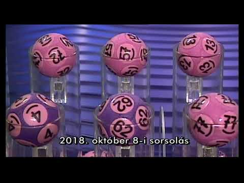 Kenó sorsolás 2018. október 8.
