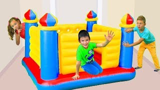Max Pretend Play with Giant Inflatable Castle Bouncer