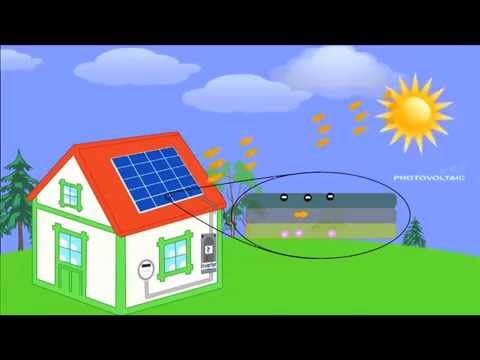How solar panels turn sunlight into electricity.