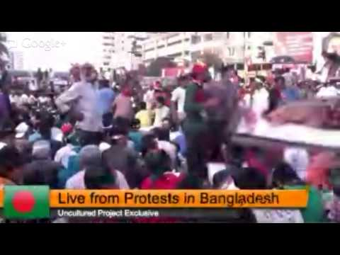 Live from Protests in Bangladesh