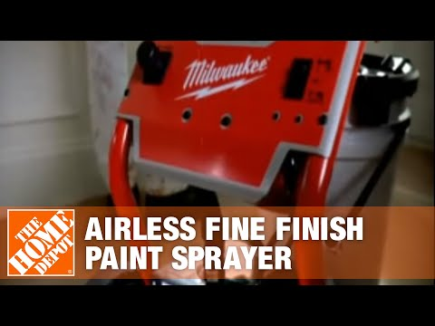 Milwaukee Airless Fine Finish Paint Sprayer