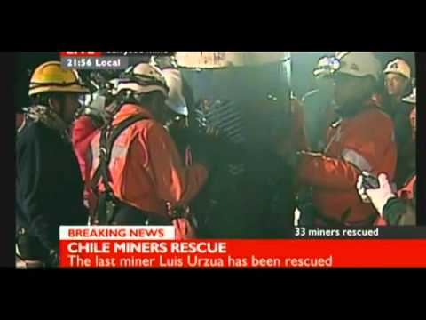 Chile Miners Rescue (live)The last miner luis urzua safed