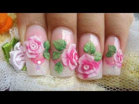 How to make pink 3D acrylic roses