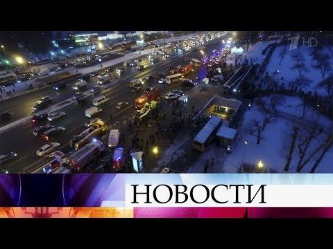 Последние данные с запада Москвы, где пассажирский автобус въехал в подземный переход.