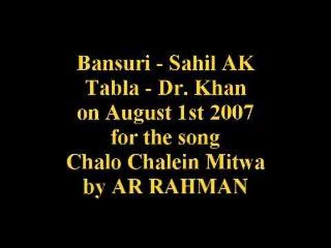 Chalo Chale Mitwa - Nayak - (Flute  Bansuri Cover) by Sahil...