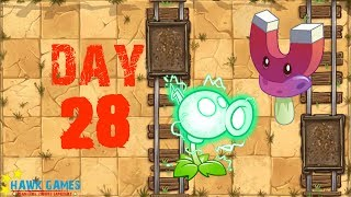 Plants vs Zombies 2 - Wild West - Day 28 [Locked and Load, Electric Peashooter] No Premium