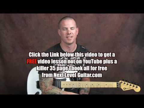 Learn Robin Trower inspired blues rock guitar lesson Bridge of Sighs style with flanger effect