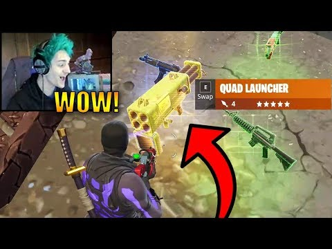 Ninja First Time Using *NEW* Quad Launcher! (LEGENDARY) | Fortnite Highlights & Funny Moments