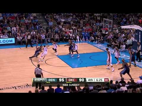 Serge Ibaka with 11 BLOCKS vs. Nuggets (Feb 19, 2012)
